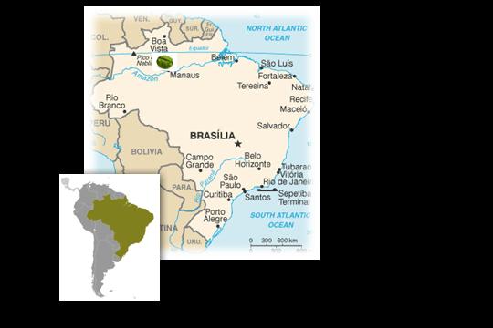brasil térkép